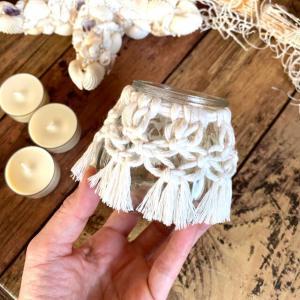 マクラメキャンドルホルダー 選べる香りとカラー ソイキャンドル3個付き_2