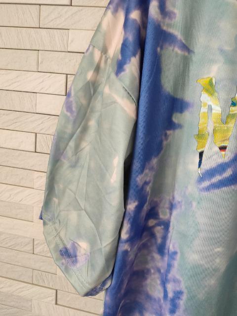 新品 タイダイ 半袖 ビッグ Tシャツ 男女兼用 2XL パープル_5