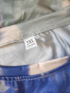 新品 タイダイ 半袖 ビッグ Tシャツ 男女兼用 2XL パープル_8