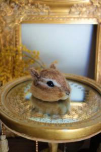 受注制作 小さな小さなシマリス帽子  羊毛フェルト  ペット服・アクセサリー WoolenDogs*Samantha*_2