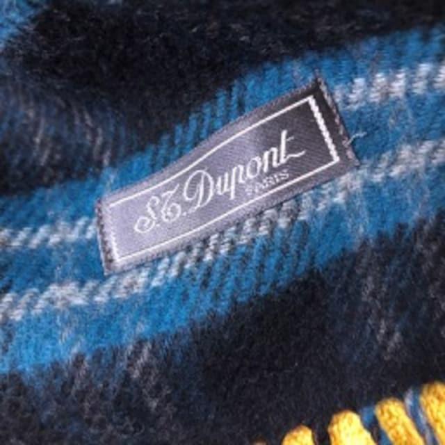 S,T, Dupont マフラー カシミヤ混_3