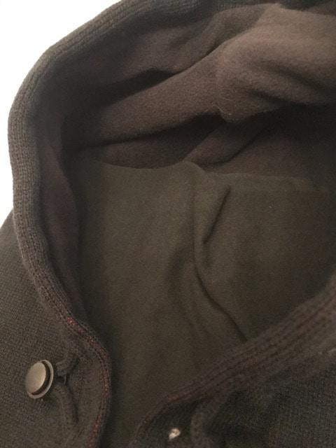 防寒 フード付き ネックウォーマー 内側フリース ニット帽_5