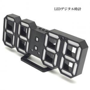 M)LEDデジタル時計 寝室用 ・リビング・ 子ども部屋用・WH_2
