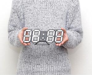 M)LEDデジタル時計 寝室用 ・リビング・ 子ども部屋用・WH_3