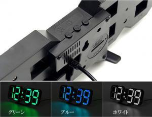 M)LEDデジタル時計 寝室用 ・リビング・ 子ども部屋用・WH_5