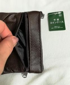 小銭入れ★牛革★ポケット2個★内布あり★ダークブラウン★_2