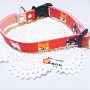 3種の柴犬柄 お散歩用首輪(中型犬用) リード・首輪 小春日和_3