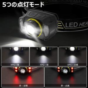 【2021進化版】ヘッドライト 充電式 IPX6防水 センサー_2