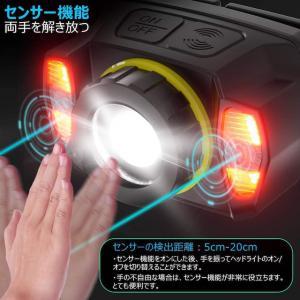 【2021進化版】ヘッドライト 充電式 IPX6防水 センサー_3
