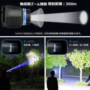 【2021進化版】ヘッドライト 充電式 IPX6防水 センサー_4