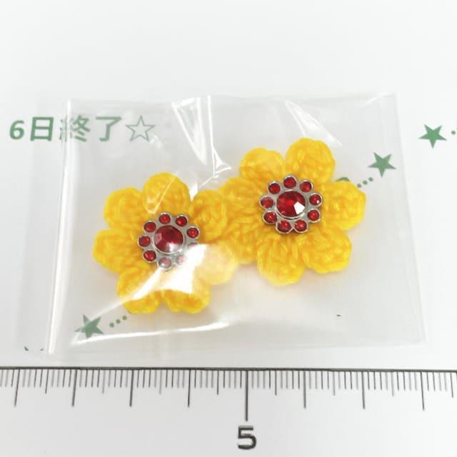 6*ハンドメイド*キラキラビジューお花モチーフ 35_1